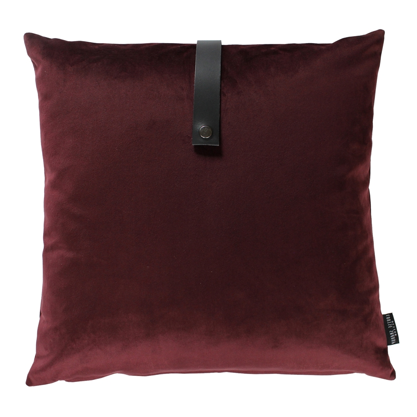 Pude Velour 65x65, bordeaux